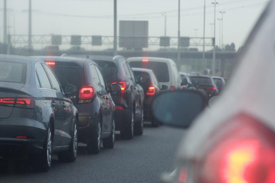 Verkeershinder door regenval