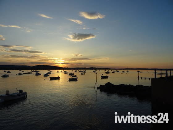 Sunset seen from the Exmouth Harbour