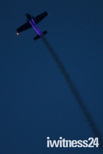 Night Time aerobatics over Attleborough