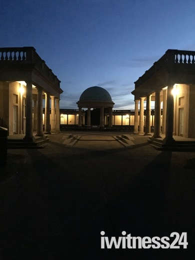 Eaton Park at night