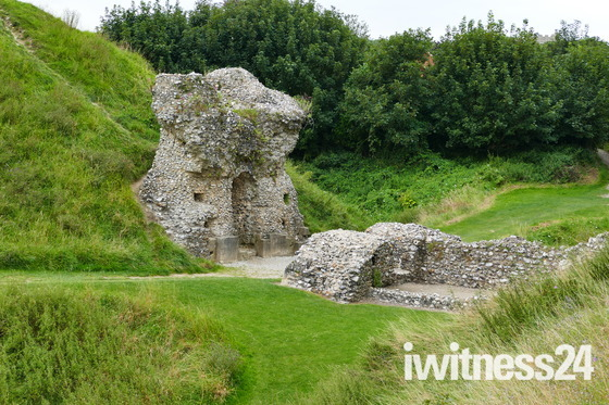 Remains Of The Keep At Castle Acre Castle