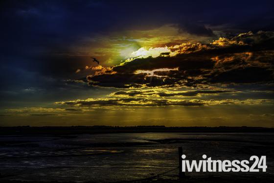 Sunset at Felixstowe marshes