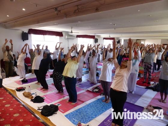 International Yoga day.