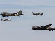 Battle of Britain Memorial Flight at Weston Air Festival 2018