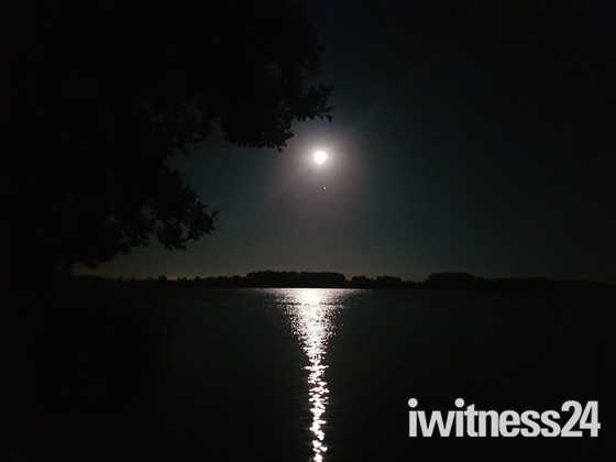 Full moon over Filby broad