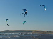 Windsurfing at Westward Ho!