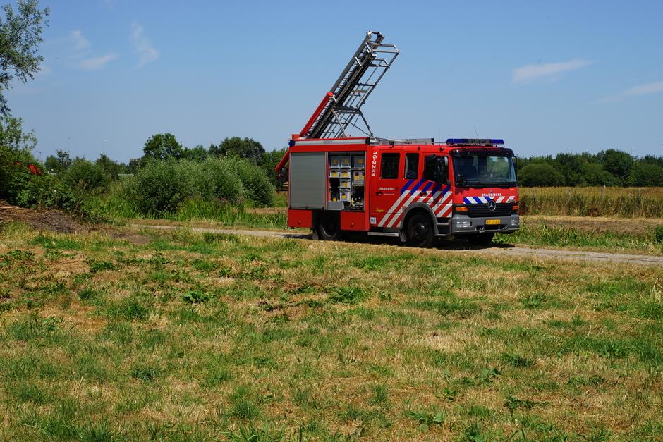 De brandweer is actief, oppassen met de droogte