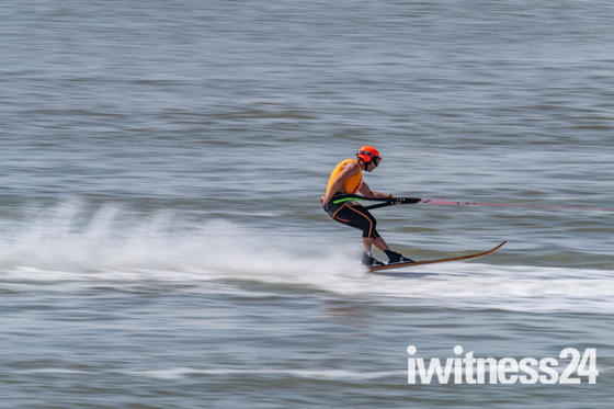 Waterskiing Excitement in Weston Bay