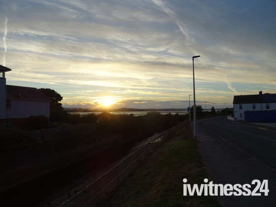 Sunset from Mudbank Lane, Exmouth