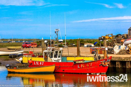 Colourful coastal view