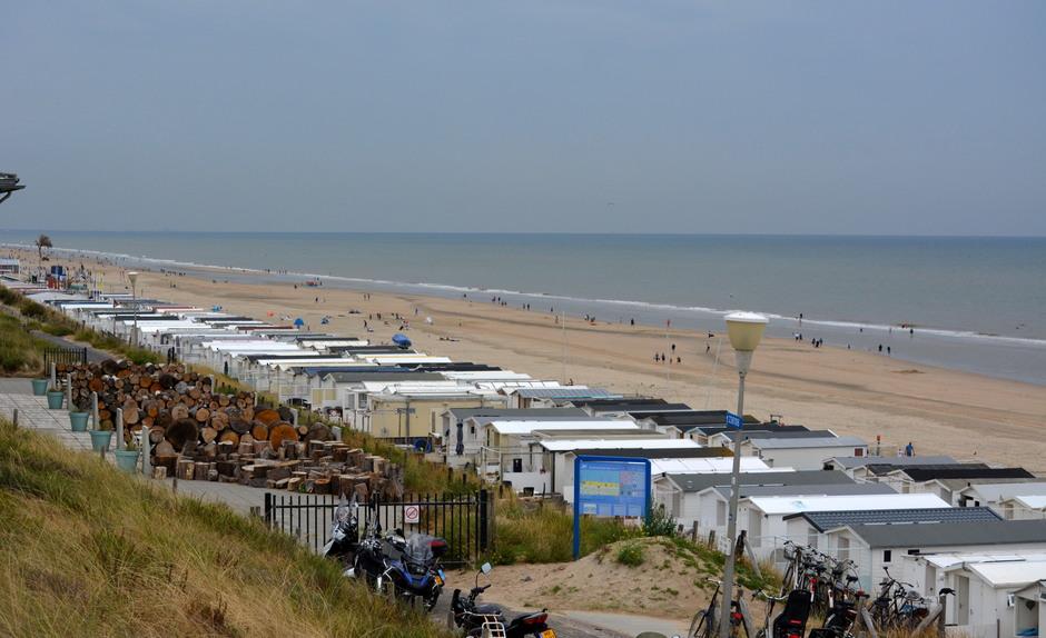 Strand zandvoort Bui op zee