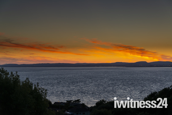 Sunset over the Bristol Channel from Portishead