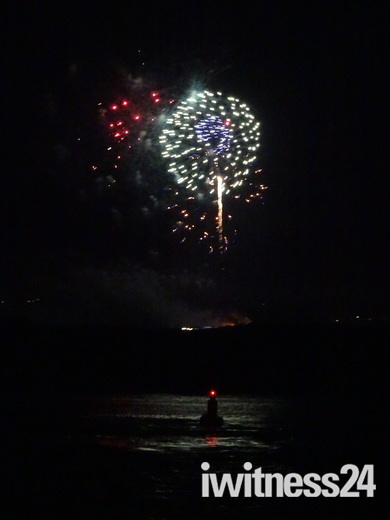 Fireworks over at Dawlish Warren - 16.08.2018
