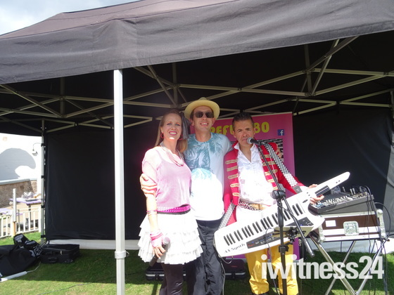 """I was pictured with the """"Reflex 80"""" band at Exmouth Pavilion Garden"""