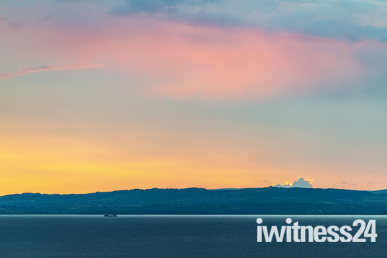 Sunset over South Wales looking from Portishead