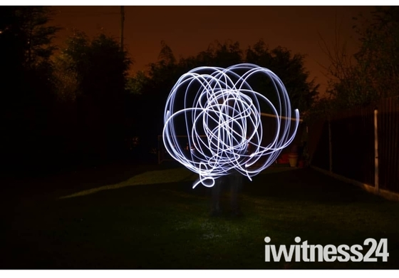 After Dusk with led's and light painting