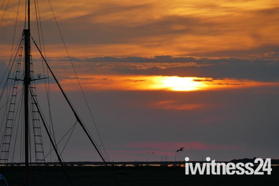 sunset at blakeney