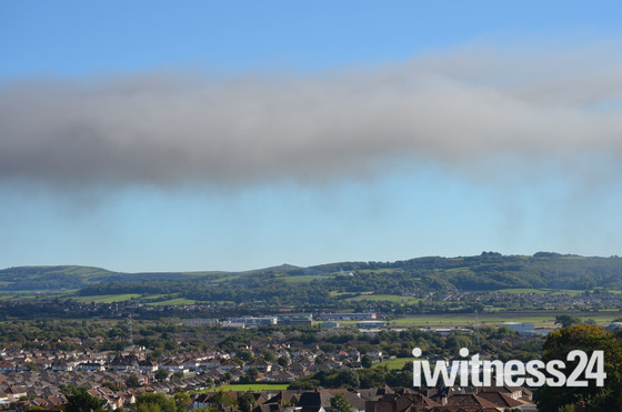 Smoke Plume over Weston Super Mare