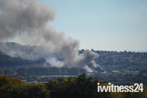 Smoke Plume over Weston Super Mare