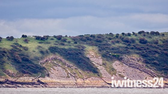 Erosion on Brean Down