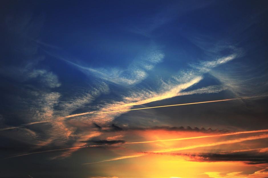 Prachtige Gekleurde Ondergaande Zon