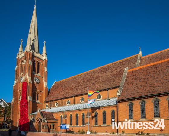 Poppy tribute at St John's, Felixstowe