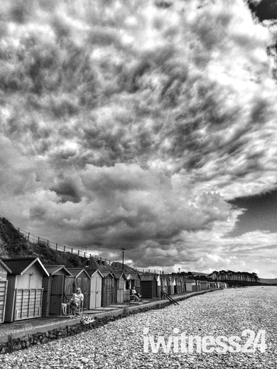 Stormy clouds over Budleigh