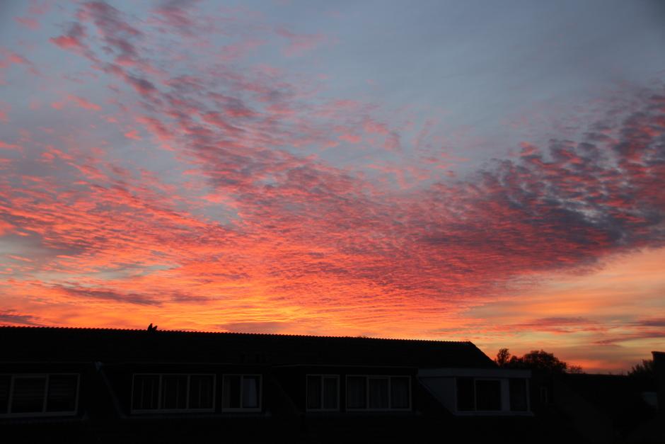 Avondlucht boven Rijswijk in Zuid Holland