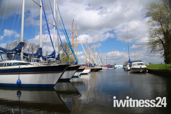Boats in Norfolk: Reflections