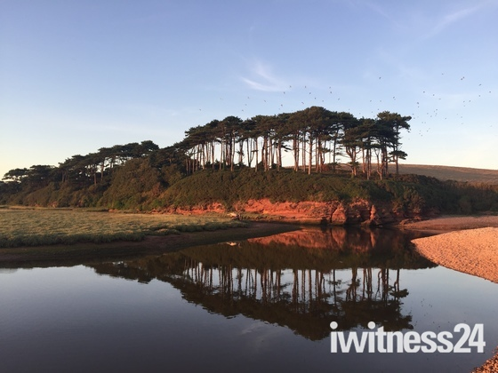 Reflection at Budleigh seafront