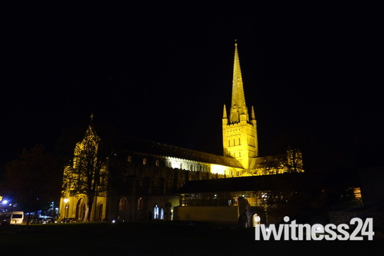 Norwich at night