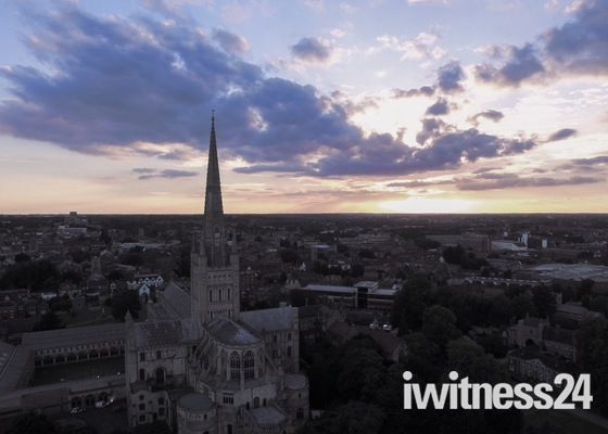 Norwich Cathedral From The Air
