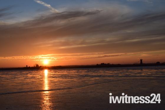 Sunset On The River Breydon