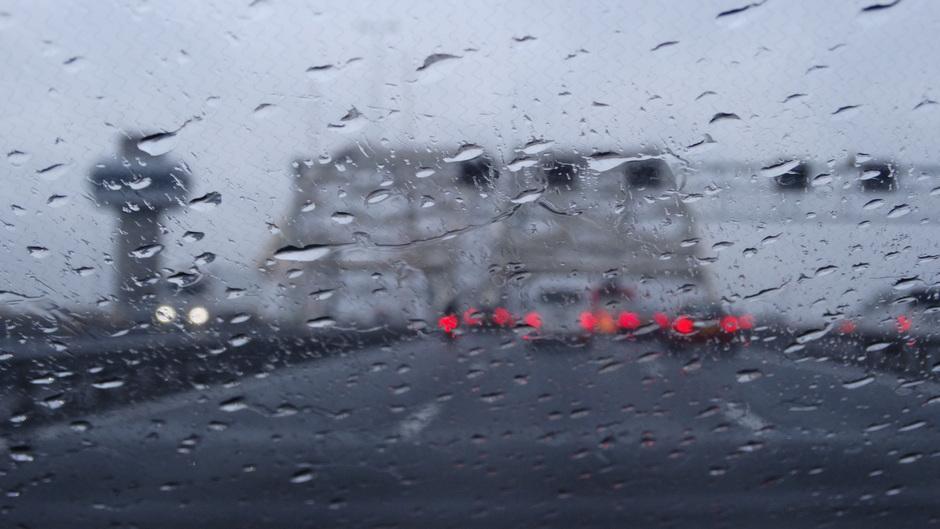 Files door de regen
