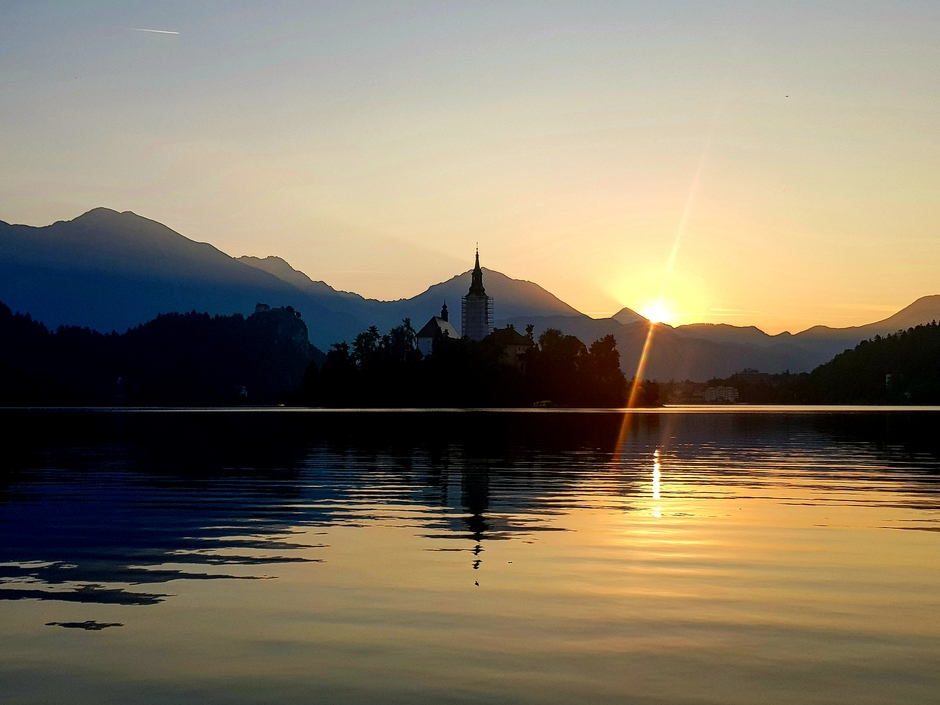 Zonsopgang in Slovenië