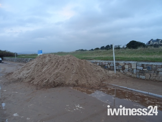 A Sand Pile by Queen's Road