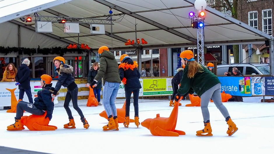 schaatsen in de regen