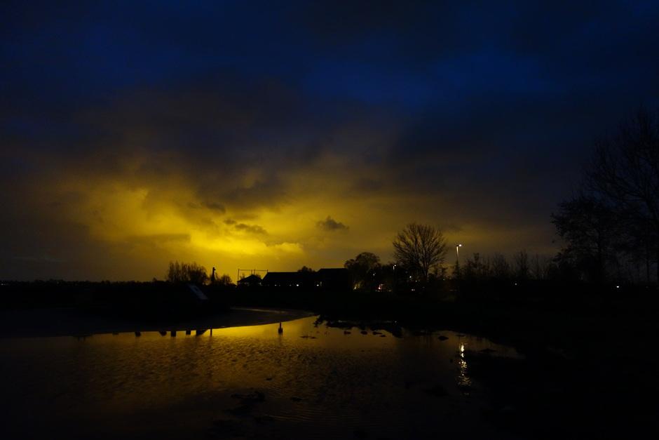 Mooie zonsopkomst? Nee lichtvervuiling