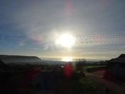 Looking towards Seaton in the morning sun