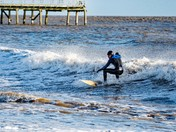 rideing the surf