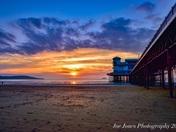 Weston super mare sunset