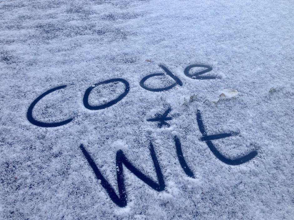 Sneeuw op komst. Code wit
