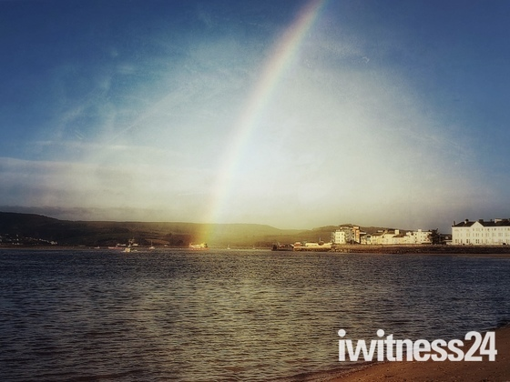 Exmouth Seafront Rainbow