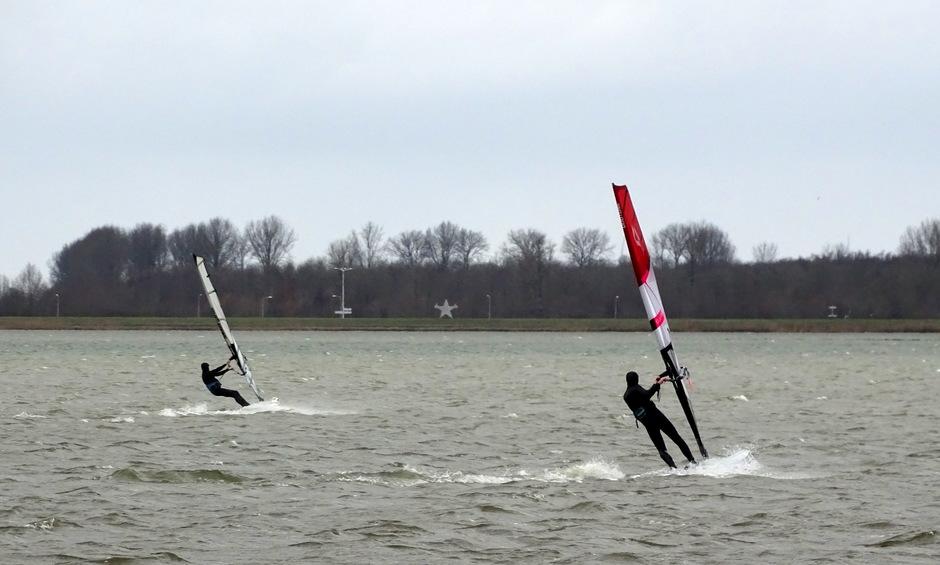 Windsurfen Veluwemeer.