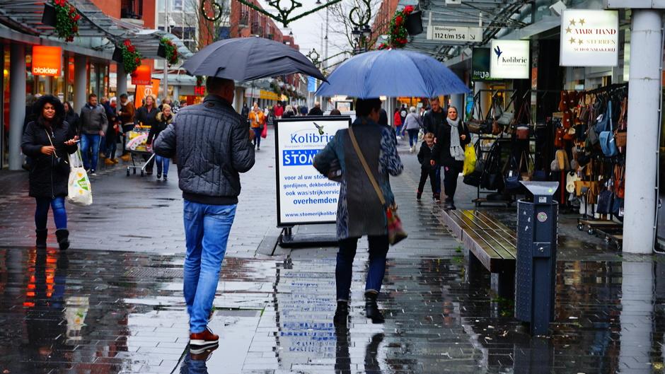 Paraplu is onmisbaar.