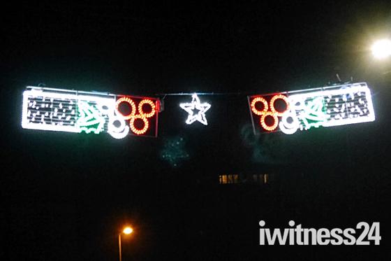 Christmas lights at Budleigh