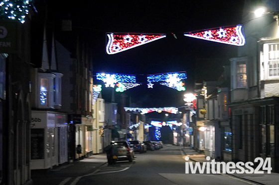 Christmas lights at Budleigh