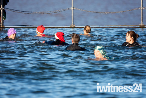 Clevedon Marine Lake's New Years Day Swim