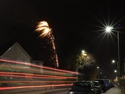 Firework, Light Trail and Light Ray