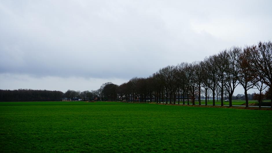 Grijs bewolkte dag.